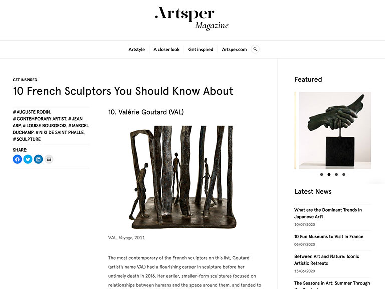 Val Artsper Magazine - 10 French Sculptors You Should Know About