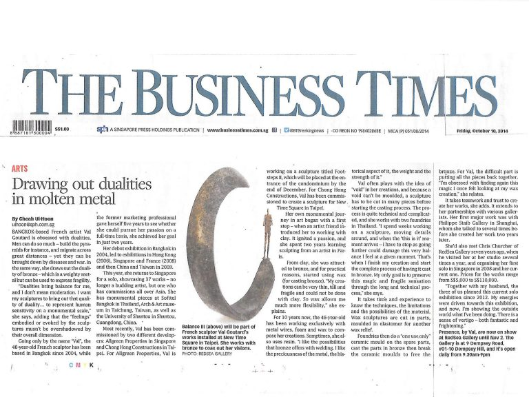 The Business Times (Singapour)  10 Octobre 2014