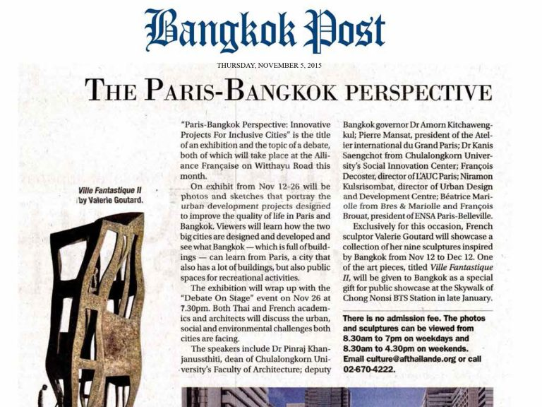 Bangkok Post (Thaïlande) 5 November 2015