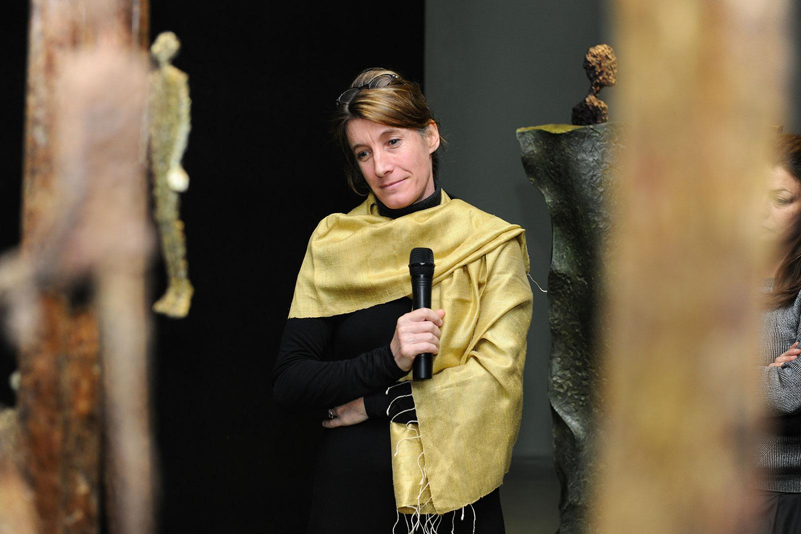 Anatomy of a creative path by French sculptor Val - Valérie Goutard - at Yishu8 foundation with Sculptureval