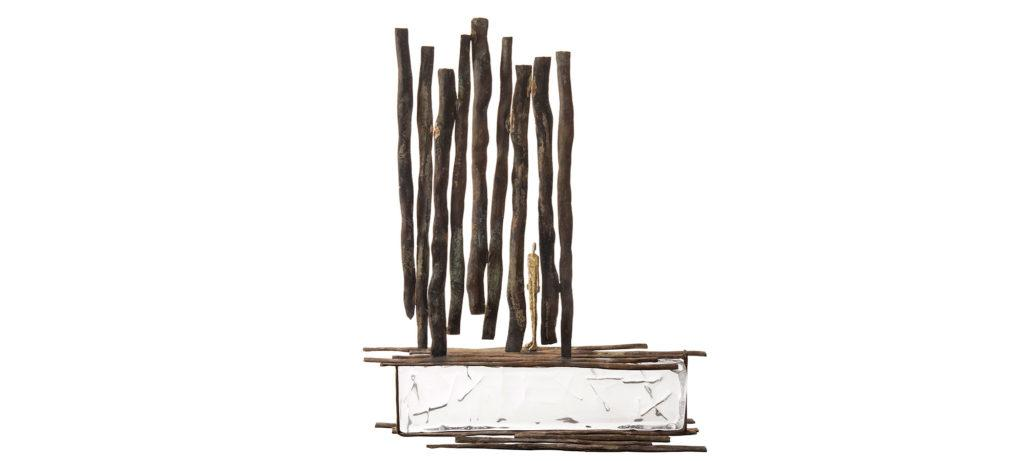 Apparition de la sculpteure française Val – Valérie Goutard – avec Sculptureval & les maîtres verriers Murano