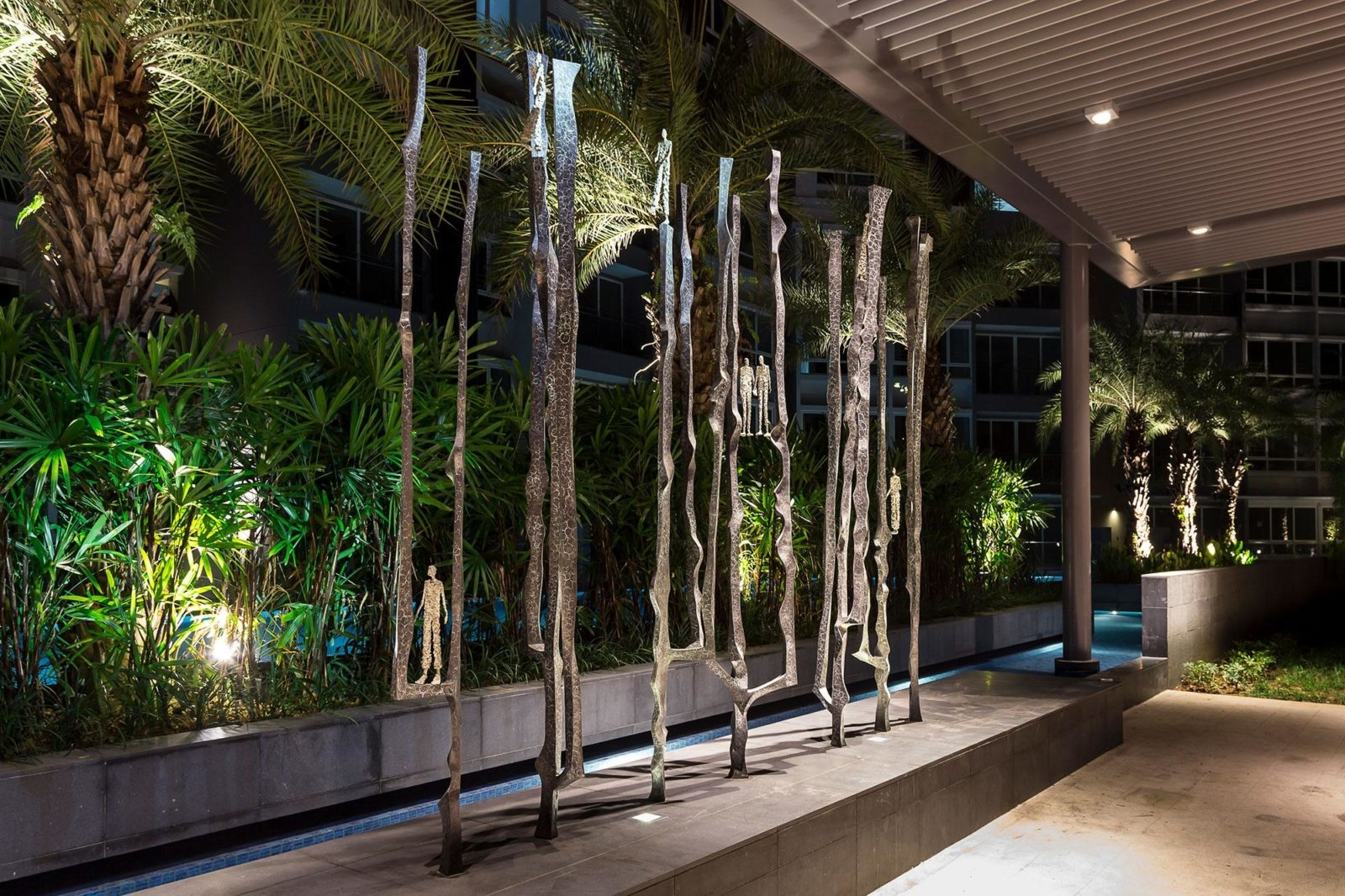 Footsteps II by French sculptor Val - Valérie Goutard - with Sculptureval in Sorrento Residence in Singapore