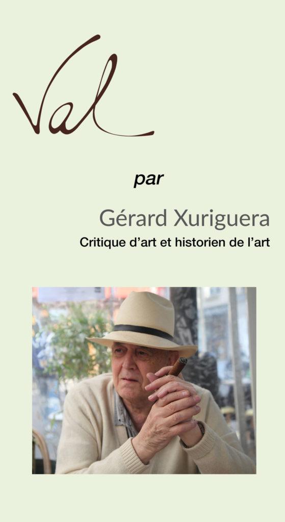 Gérard Xuriguera sur la sculpteure française Val – Valérie Goutard – avec Sculptureval