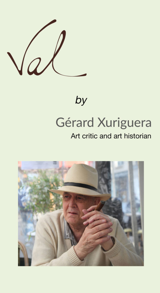 Gérard Xuriguera about French sculptor Val - Valérie Goutard - with Sculptureval
