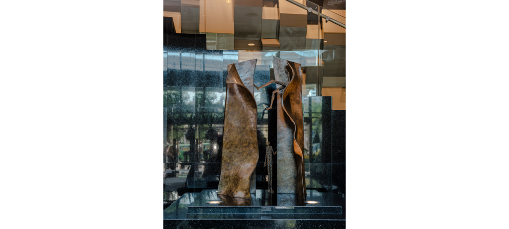 Hide & seek II by French sculptor Val - Valérie Goutard - with Sculptureval at Sofitel Sukhumvit in Bangkok - Thailand