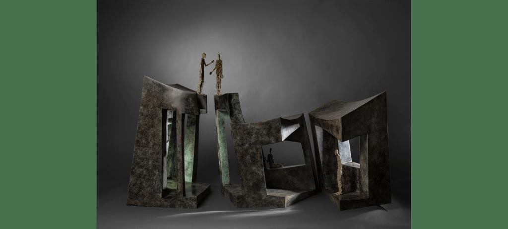 Home-sweet-home II de la sculpteure française Val – Valérie Goutard – avec Sculptureval