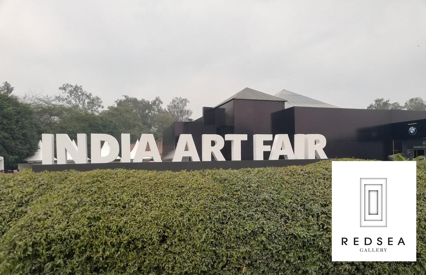 La sculpteure française Val - Valérie Goutard - avec REDSEA Gallery à India Art Fair avec Sculptureval