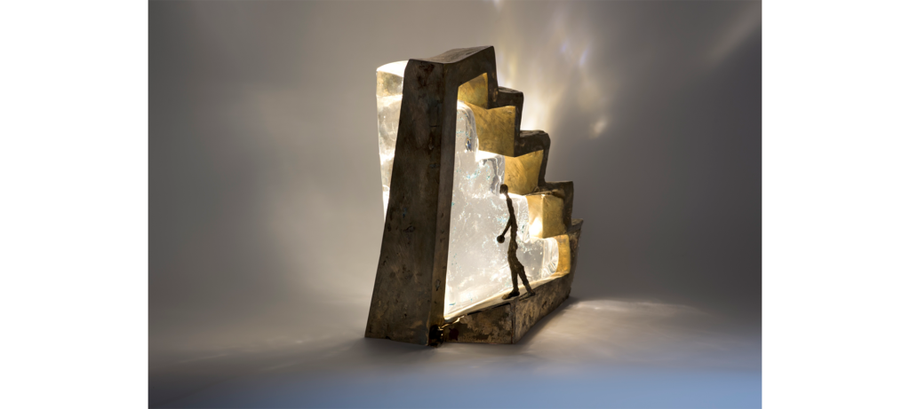 Illusion by French sculptor Val - Valérie Goutard - with Sculptureval & Murano glass masters