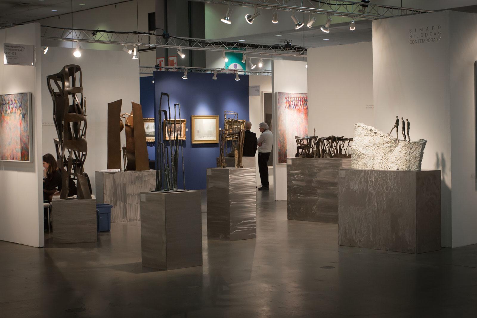 La sculpteure française Val - Valérie Goutard - avec Simard-Bilodeau Contemporary à la LA Art Show avec Sculptureval