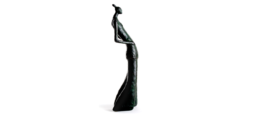 Miss trendy by French sculptor Val - Valérie Goutard - with Sculptureval