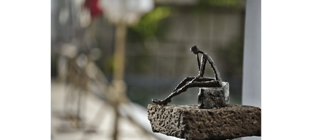Soul mood by French sculptor Val - Valérie Goutard - with Sculptureval