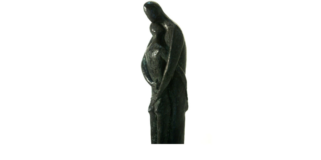 Tenderness by French sculptor Val - Valérie Goutard - with Sculptureval