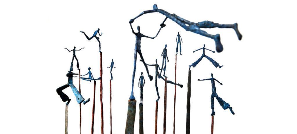 Theatre of joy I à XII de la sculpteure française Val – Valérie Goutard – avec Sculptureval