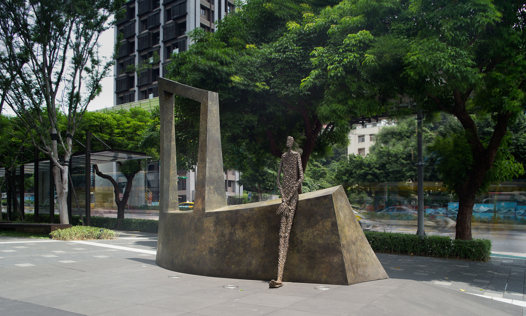Waiting III by French sculptor Val - Valérie Goutard - with Sculptureval at New Square in Taipei - Taiwan