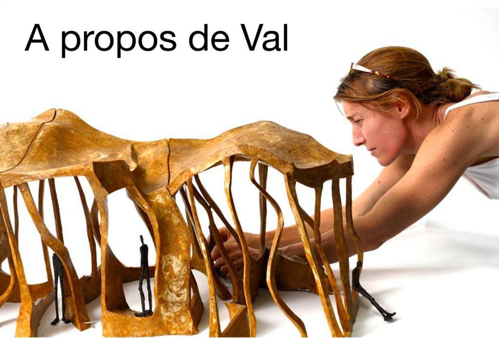 Biographie et texte de Gérard Xuriguera sur la sculpteure française Val – Valérie Goutard – avec Sculptureval