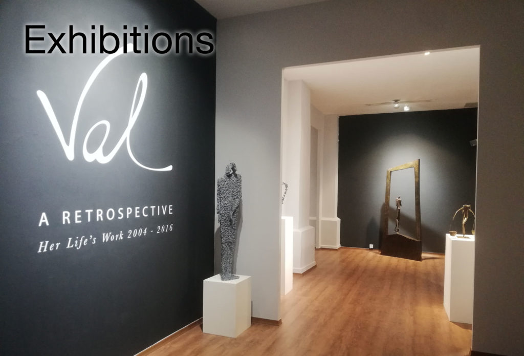 Exhibitions of French sculptor Val - Valérie Goutard - at the REDSEA Gallery, Philippe Staib Gallery and CAFA with Sculptureval