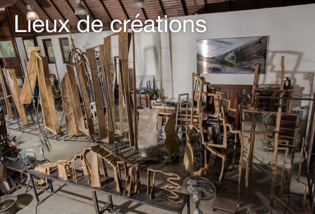 Atelier d'art, fonderies d'art du bronze et avec les maîtres verriers de la sculpteure française Val – Valérie Goutard – avec Sculptureval