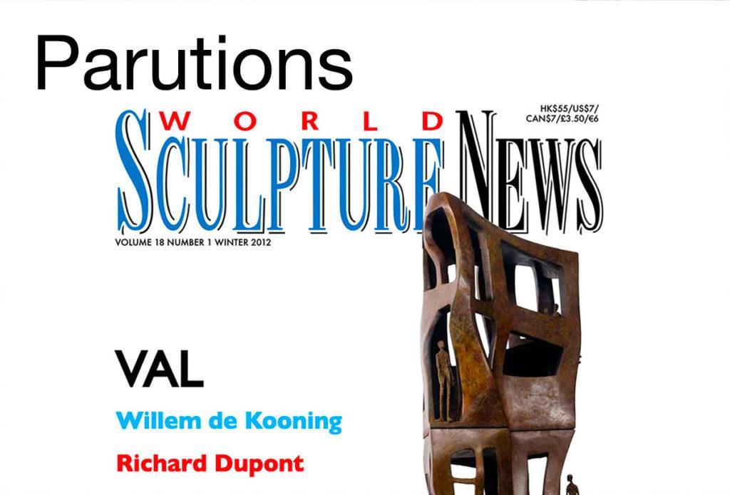 Parutions, médias et vidéos sur la sculpteure française Val – Valérie Goutard – avec Sculptureval