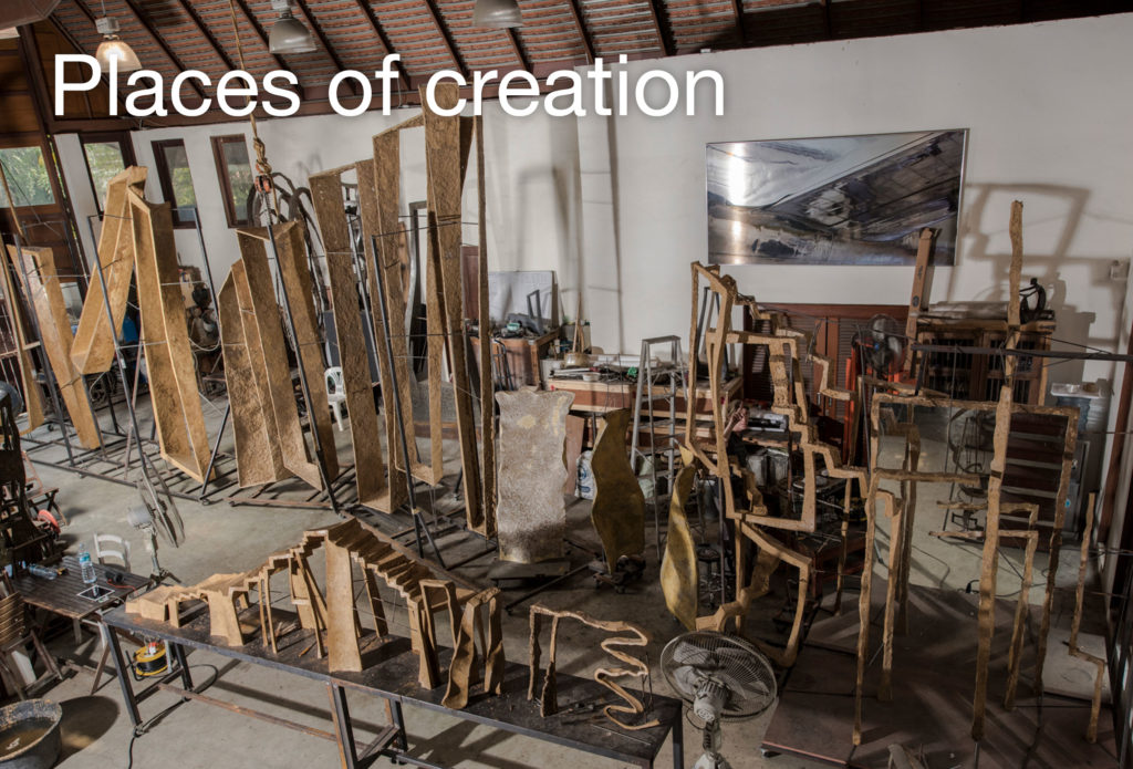 Art studio, bronze foundries and with Murano glass masters of French sculptor Val - Valérie Goutard - with Sculptureval